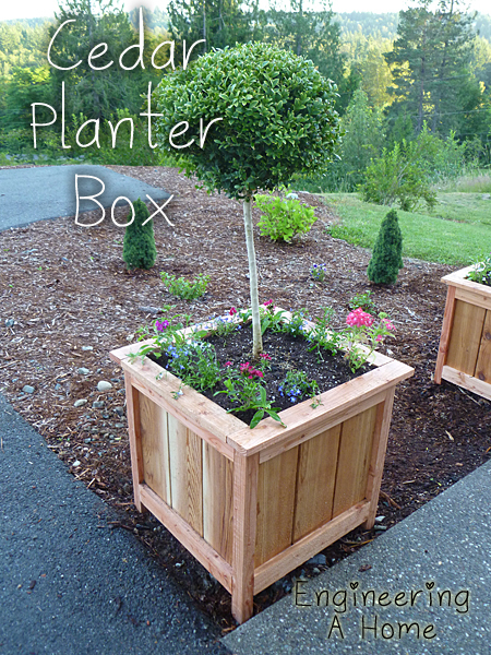ana white cedar planter boxes diy projects. Black Bedroom Furniture Sets. Home Design Ideas