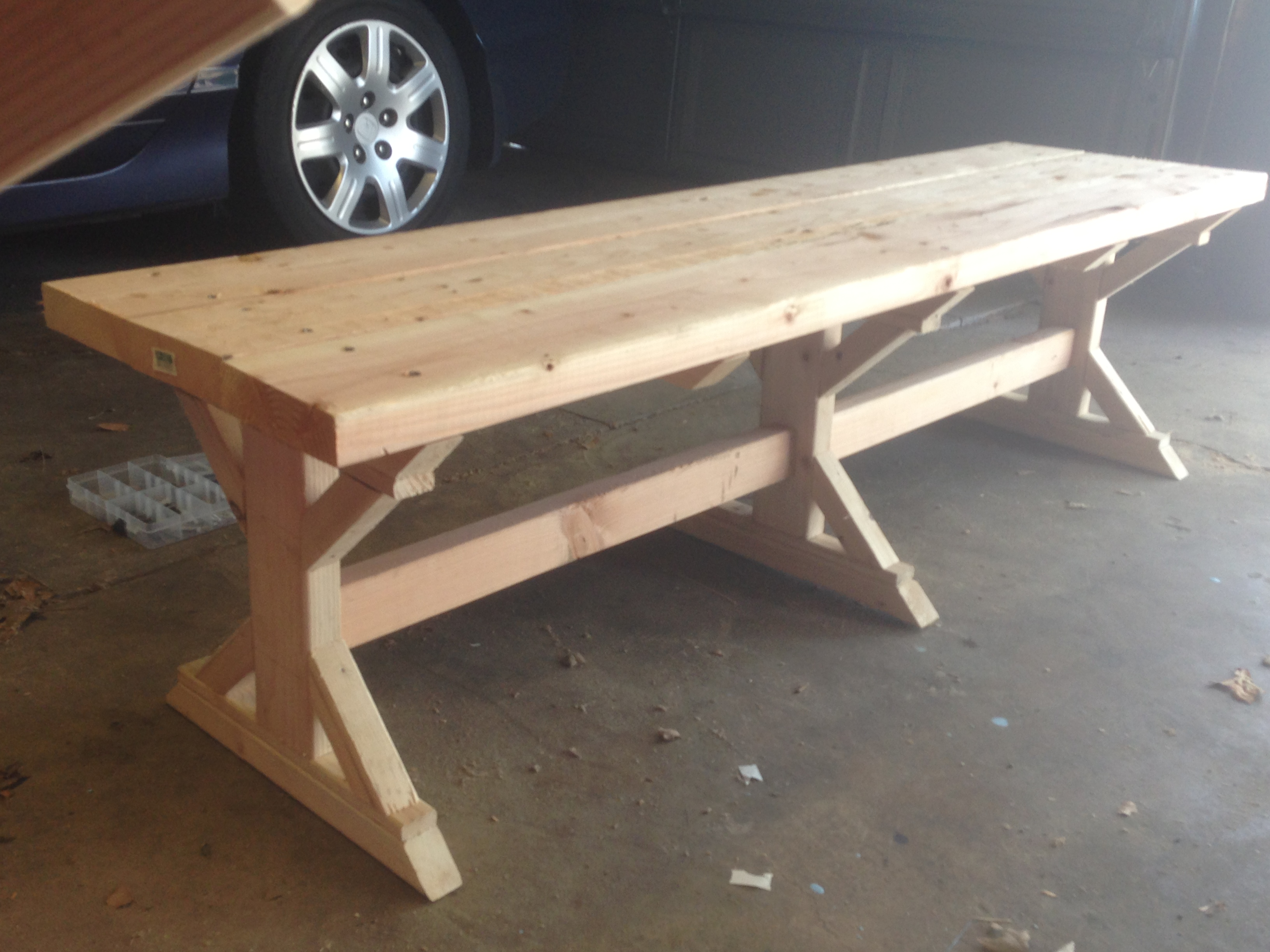 Ana White Fancy X Farmhouse Bench Diy Projects