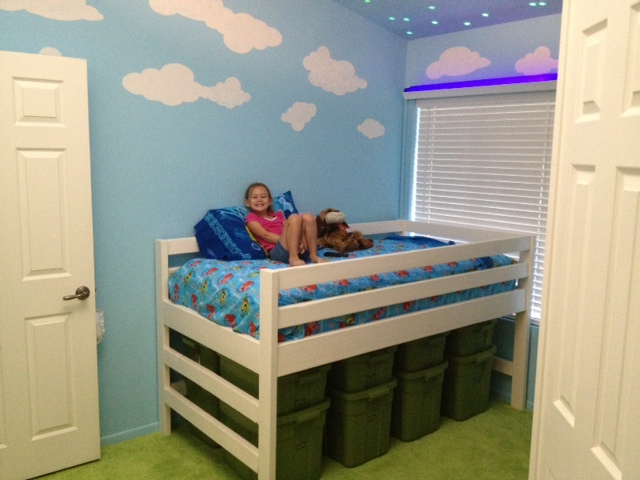Ana White Mini Camp Loft Bed With Underneath Storage