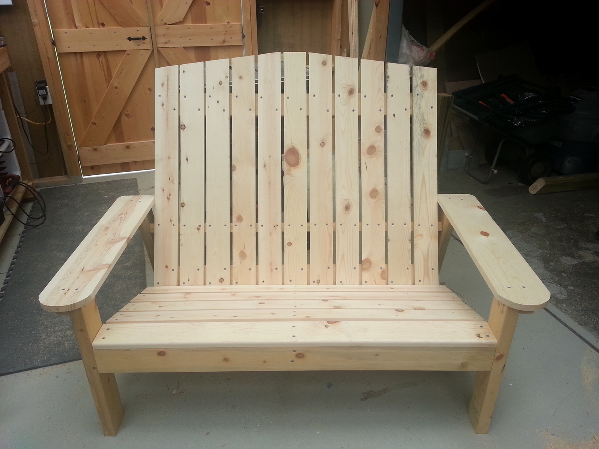 Ana White Adirondack Love Seat Diy Projects