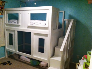 Ana White | Craftsman Style Sweet Pea Bunk Beds - DIY Projects