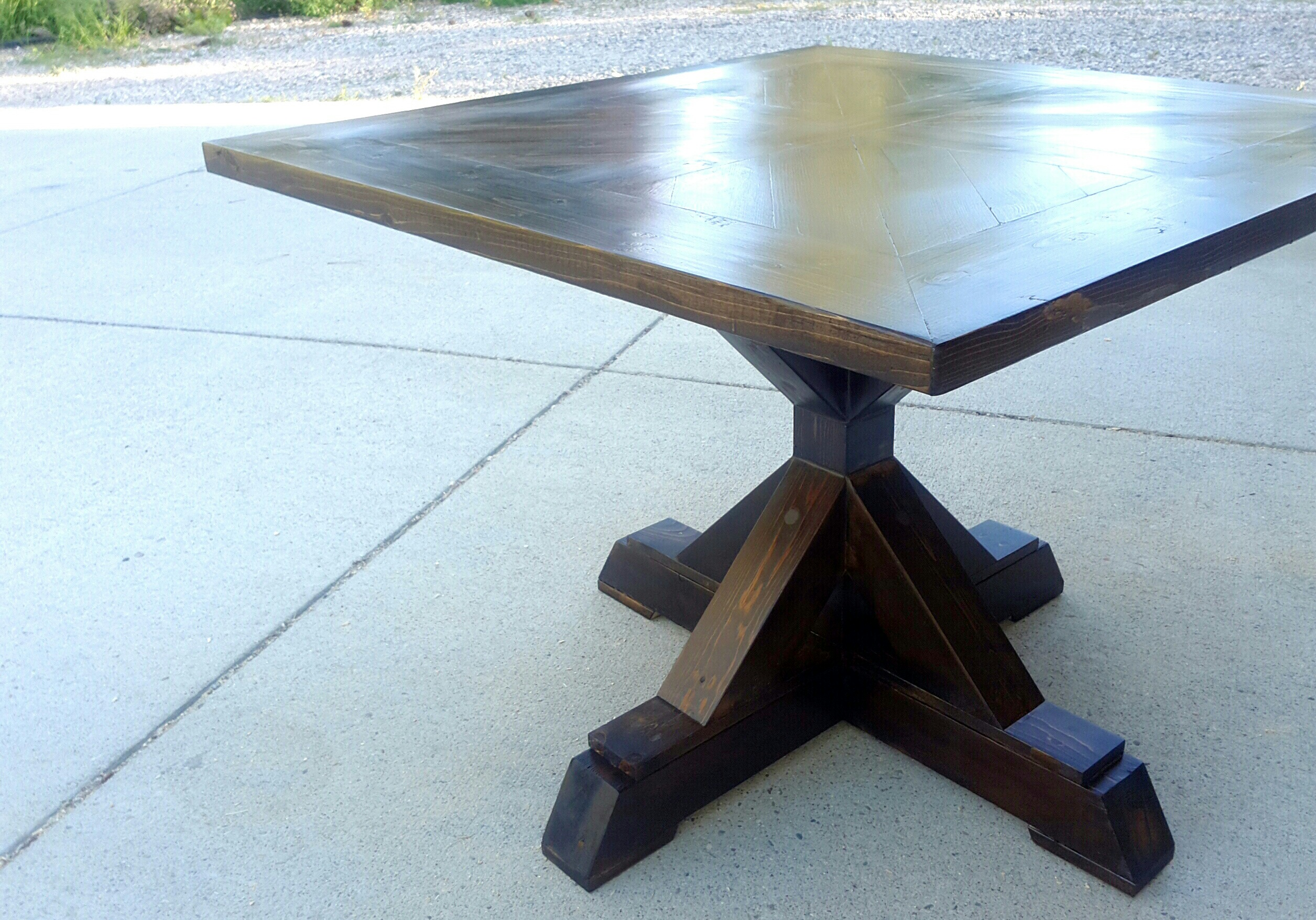 Wooden Dining Table Base ~ Ana white base pedestal table diy projects