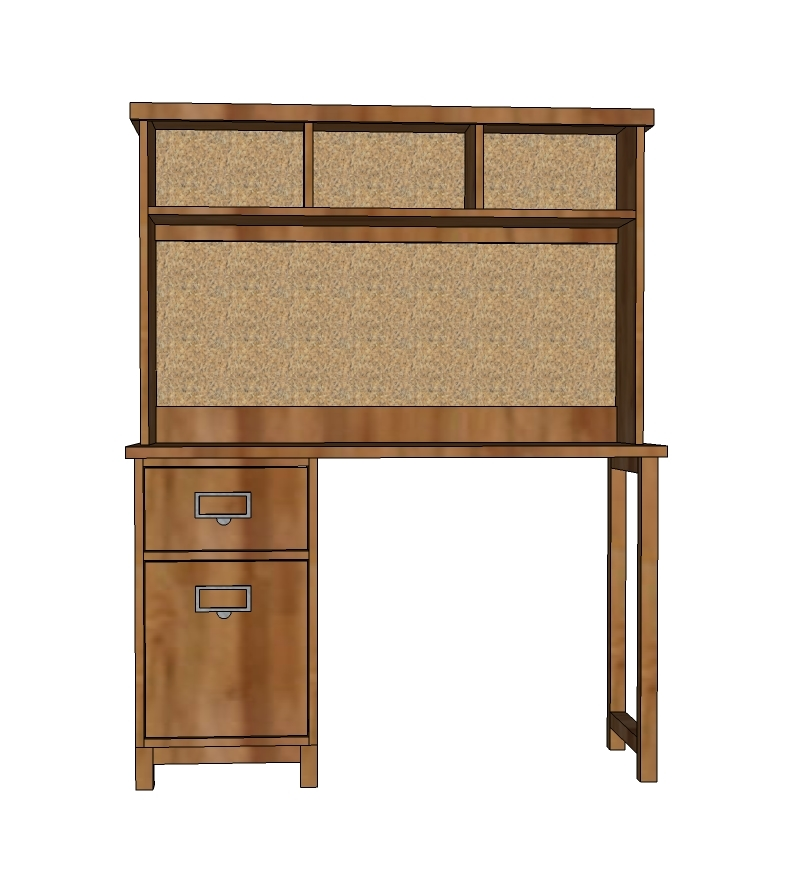 Schoolhouse Desk Hutch