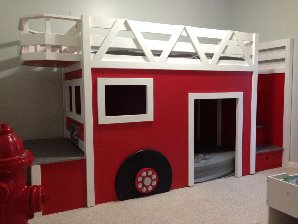 Ana white company 5 fire truck bed diy projects for Cuarto 4x4 metros