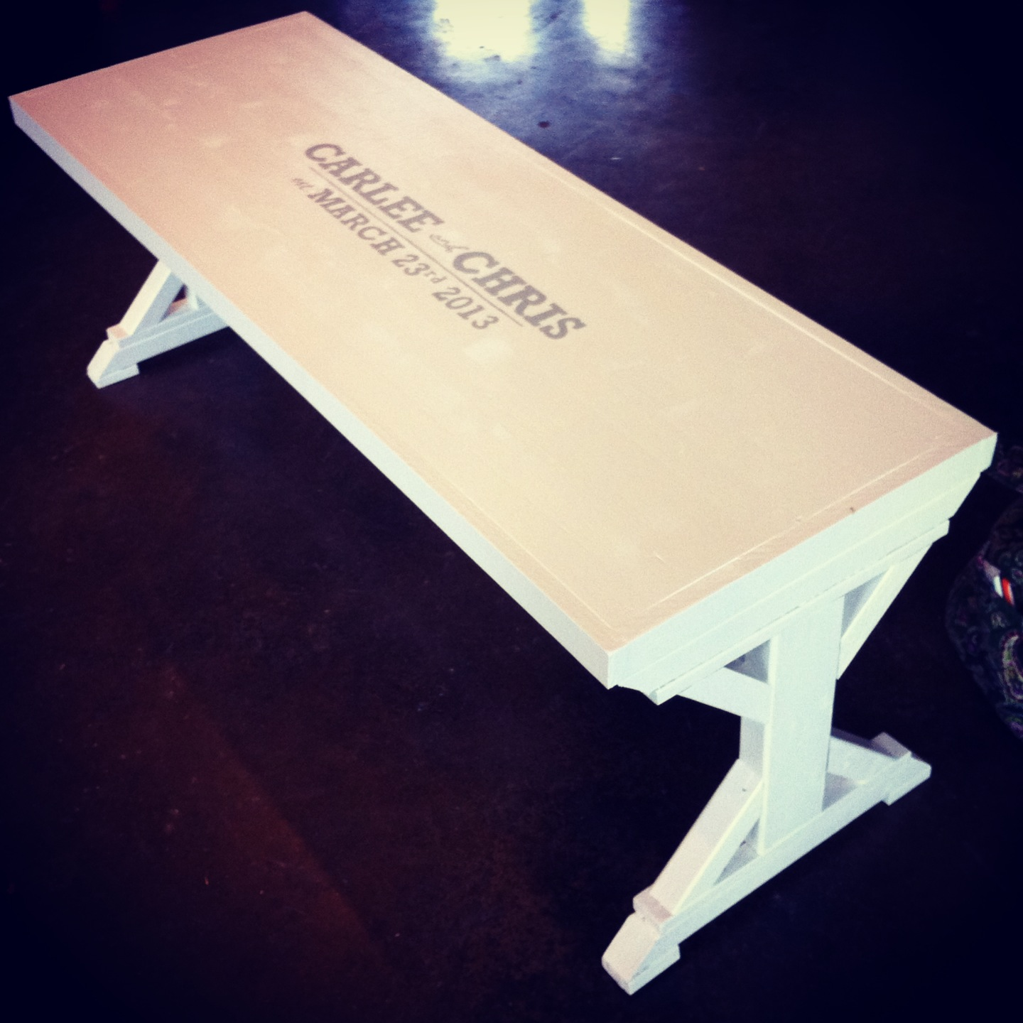 Ana White Wedding Guest Book Bench From Modified Fancy X