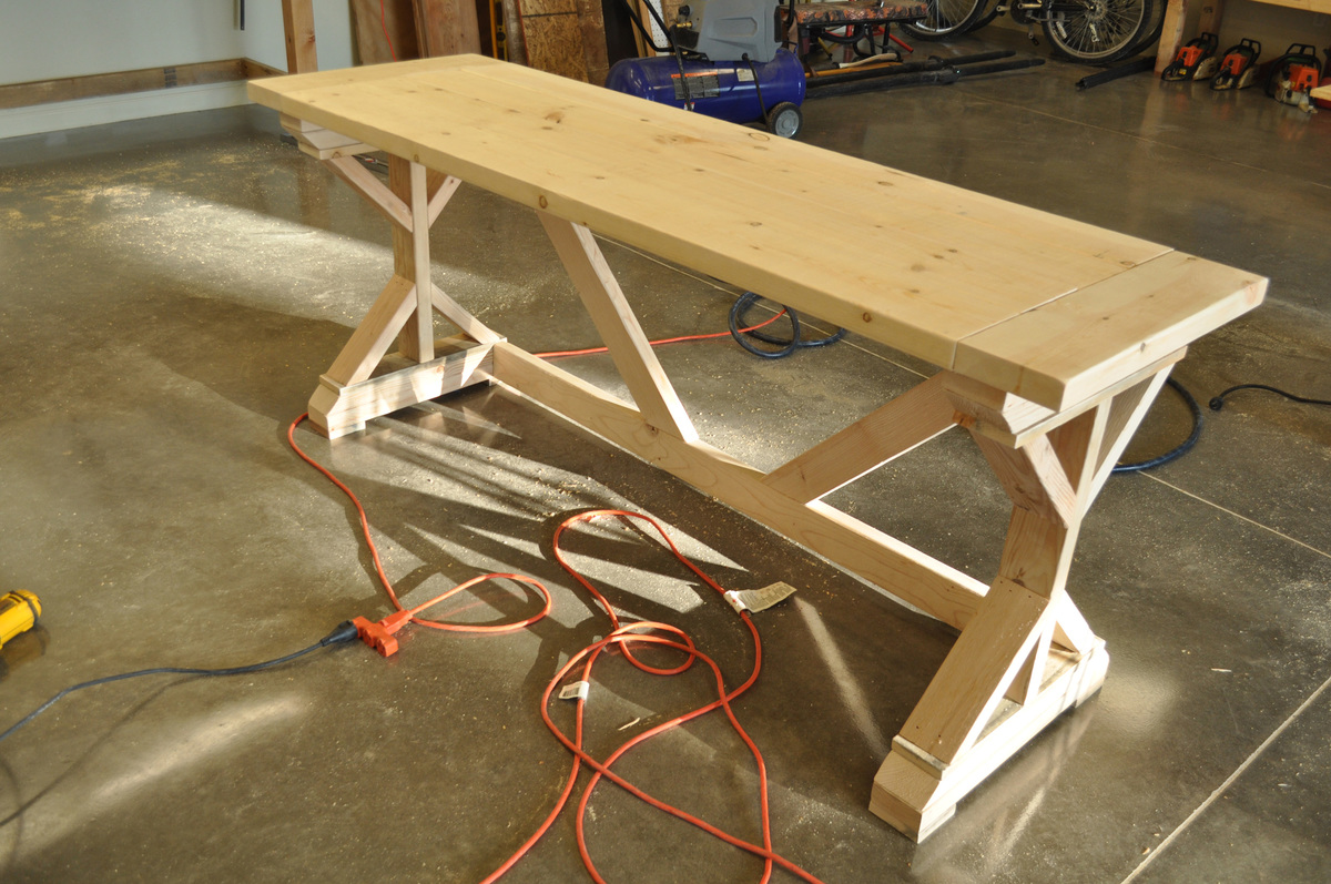 Ana White Fancy X Desk With Breadboard Top Diy Projects