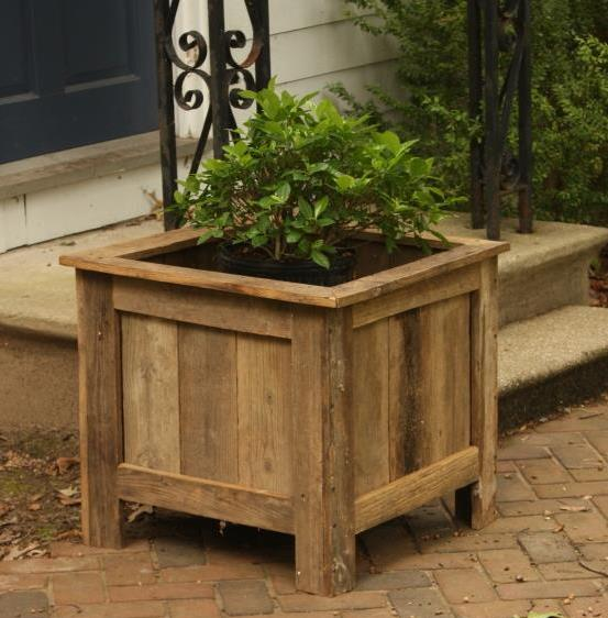 built a planter box from salvaged wood all by myself in a morning ...