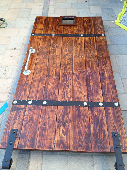 Ana White Diy Barn Door From 2x6 Boards Diy Projects