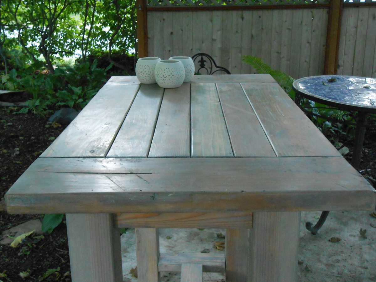 Ana White | Farmhouse table modified to become an outdoor kitchen ...