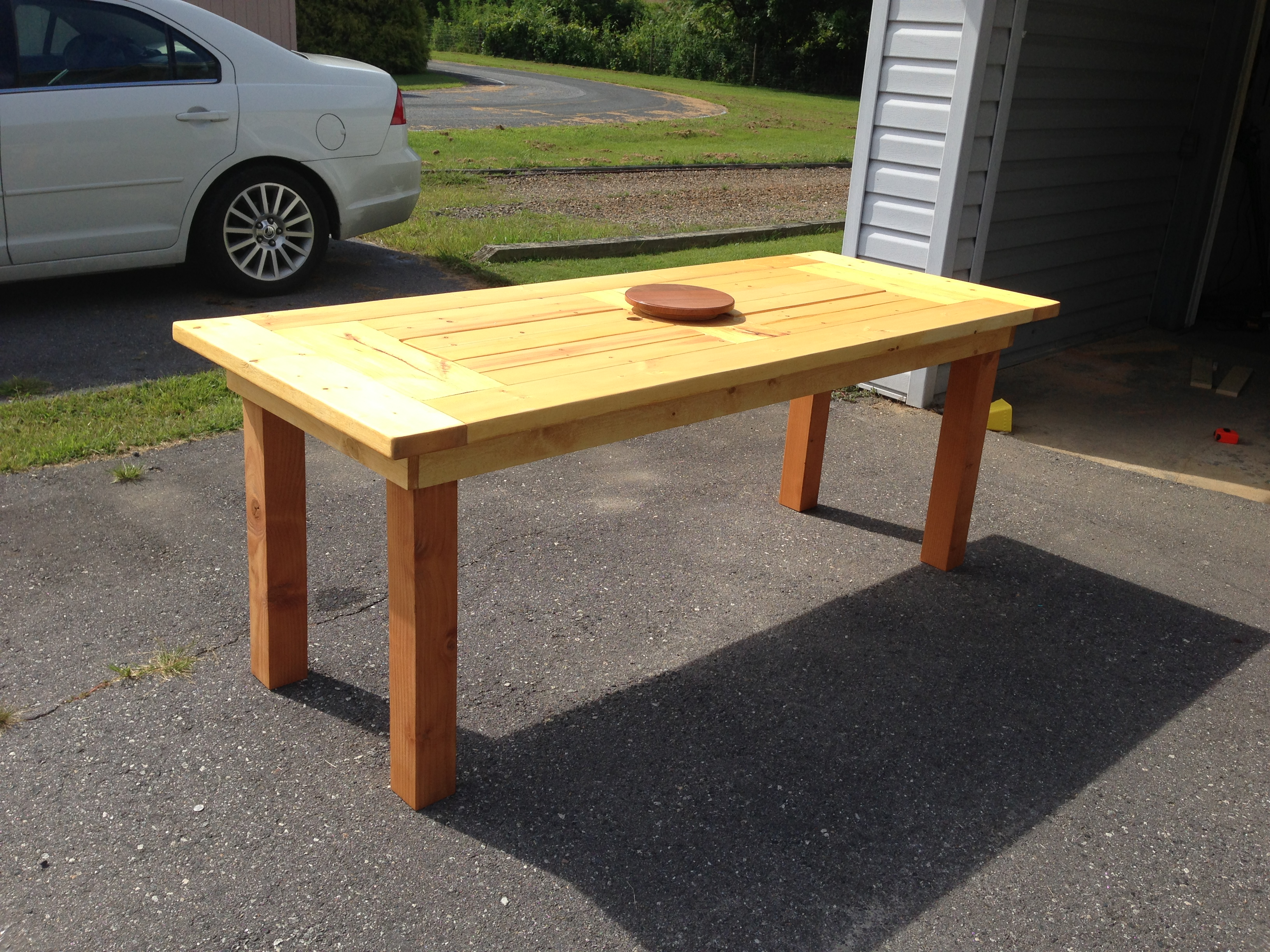 Ana White | Modified PATIO TABLE WITH BUILT-IN BEER/WINE COOLERS ...