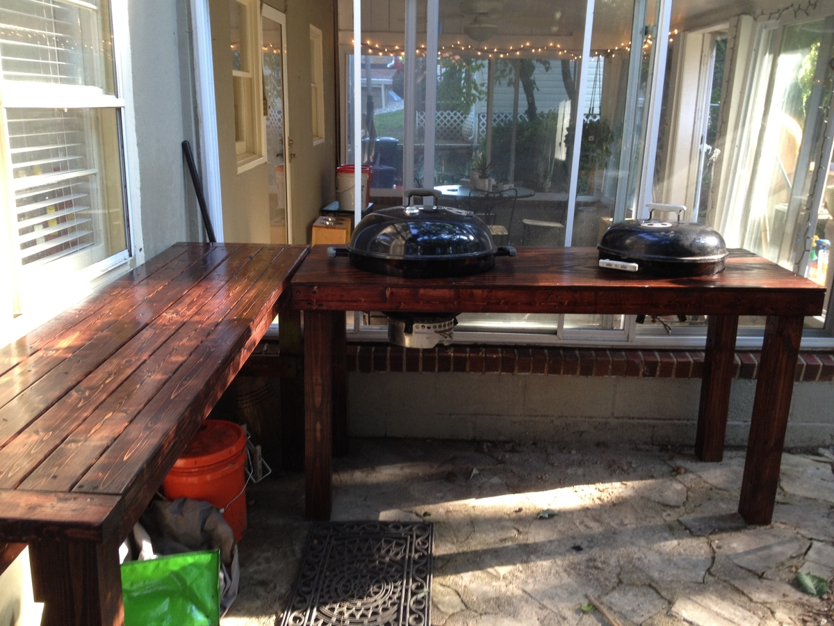 Ana White Tryde Outdoor Kitchen Surface Diy Projects