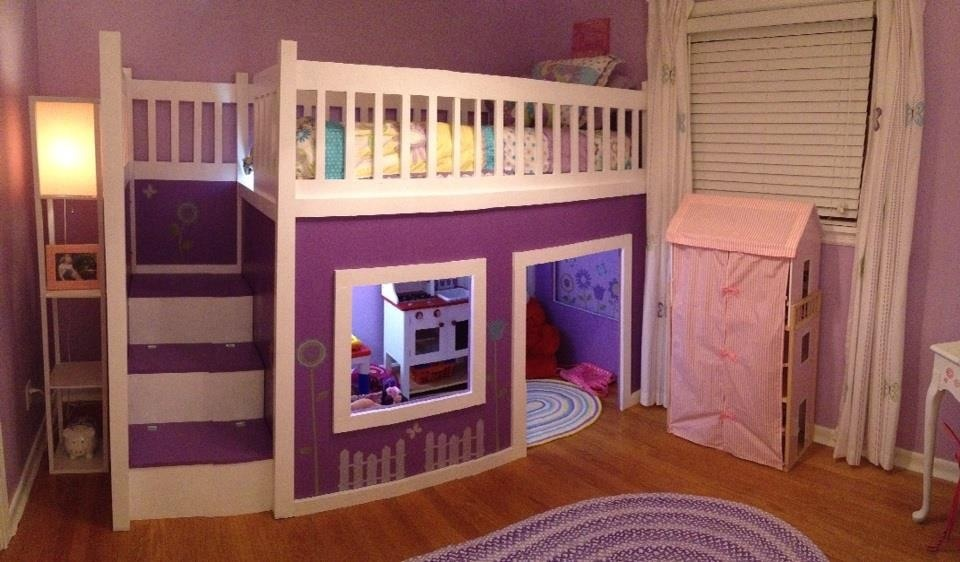 Girl s Playhouse Loft Bed. Ana White   Girl s Playhouse Loft Bed   DIY Projects