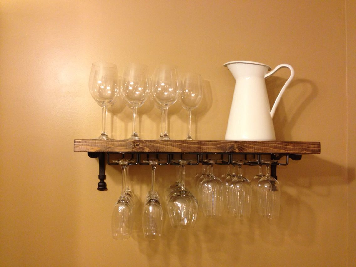 Do It Yourself Wine Glass Rack