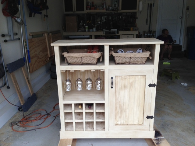 Ana White Shanty Console Turns Wine Cabinet DIY Projects