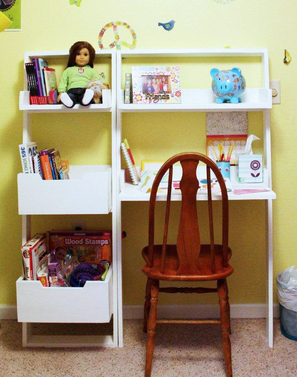 free plans to build a kids leaning wall desk from anawhitecom