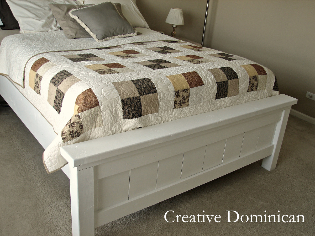 Ana white farmhouse bed diy projects for Farmhouse bed plans