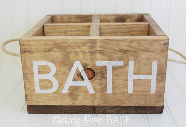 Ana White | Wood Caddy for the Bathroom - DIY Projects