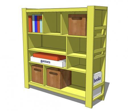 Free Plans To Build A Land Of Nod Compartment Department Inspired Bookshelf From Ana White