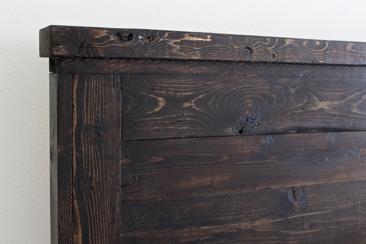 Ana white reclaimed wood headboard cal king diy projects for California king size headboard