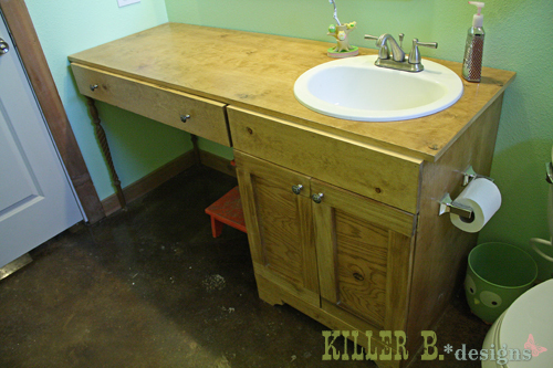 single sink double vanity. Single Sink  Double Vanity Ana White DIY Projects