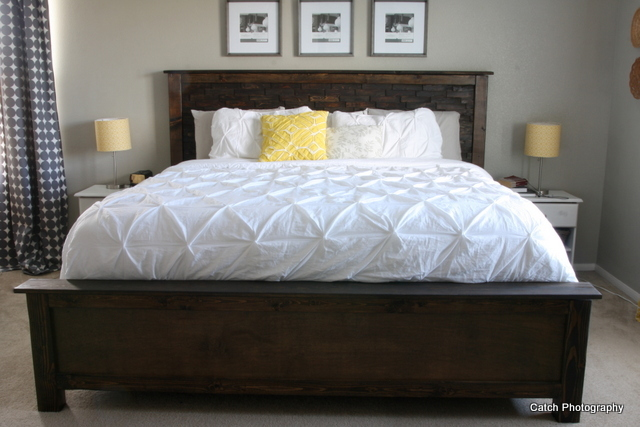 Luxury DIY Wood Shim bed plans Queen From Ana White