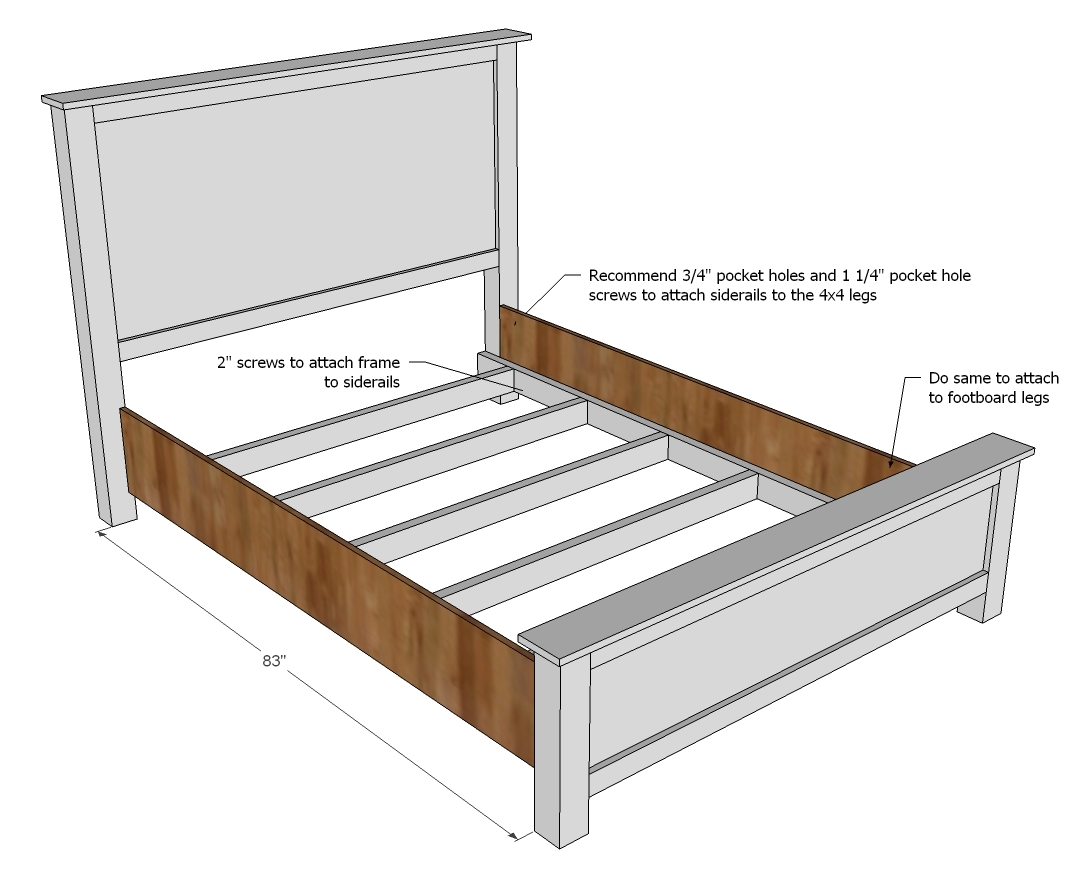 ana white wood shim cassidy bed queen diy projects