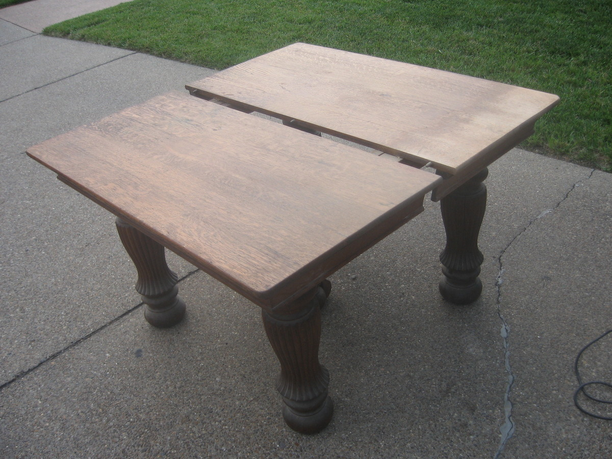 Antique quartersawn white oak dining table