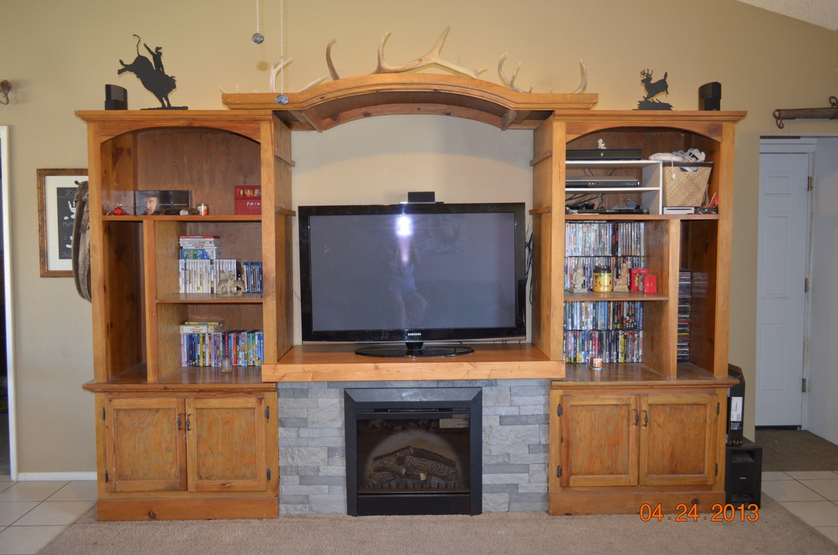 Ana white entertainment center fireplace diy projects entertainment center fireplace solutioingenieria Image collections