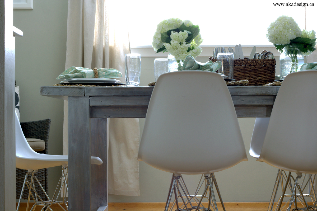 ana white | white wash pickled farmhouse table - diy projects