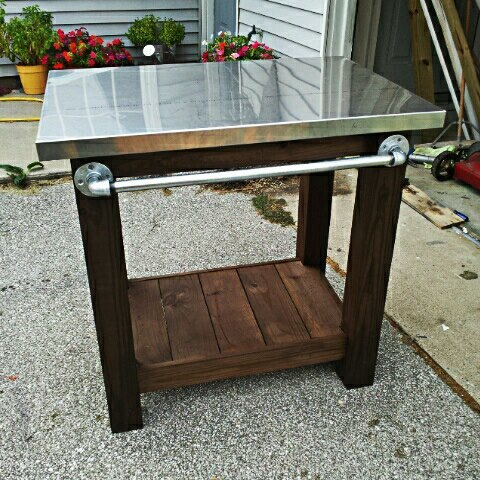 grill prep table best wood for outdoor grill table prep green egg corner with in the middle diy bbq prep table Find this Pin and more on yard & garden by Mary Haskins. Cypress, Green Egg corner deck grill table, can fit in the corner of your deck, to allow more room on your deck.