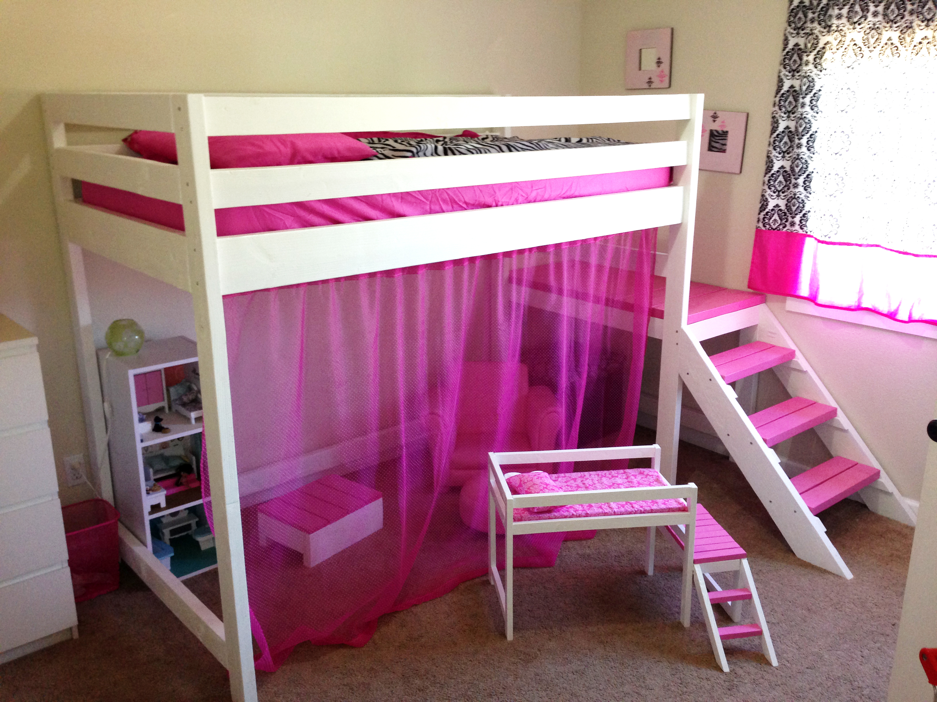 Ana White Camp Loft Bed With Matching Doll Sized Diy Projects
