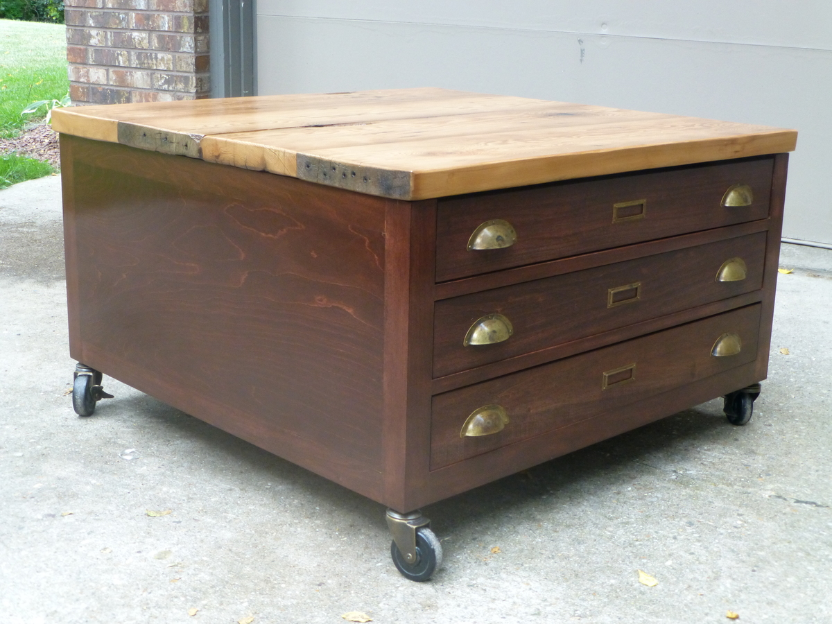 Ana White Library Coffee Table With Reclaimed Barn Wood