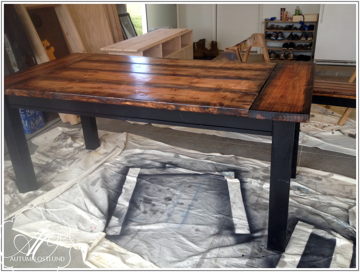 Straight Leg Farmhouse Table