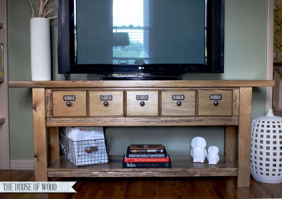 Ana white ridge media console diy projects