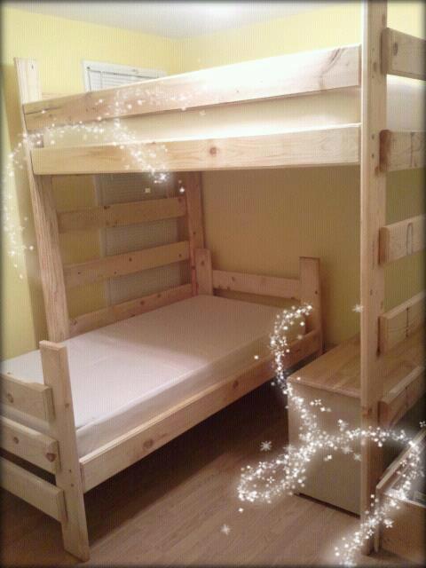 Children's bunk bed wood bunk bed bunk bed pine bed