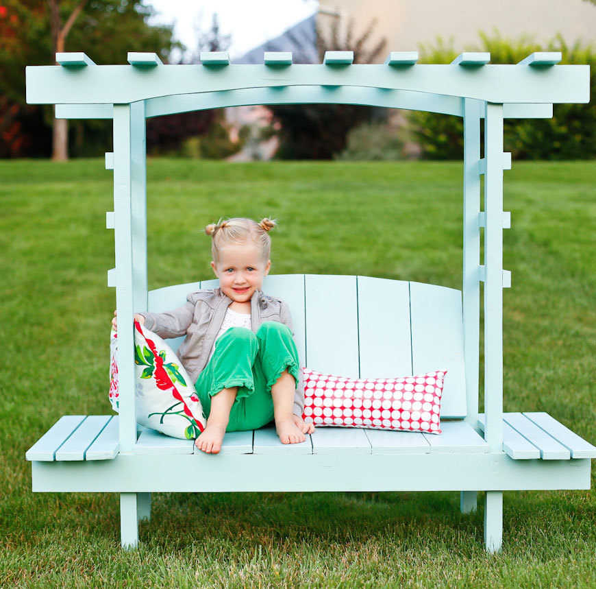 free plans to diy a kids arbor bench - Garden Furniture Kids