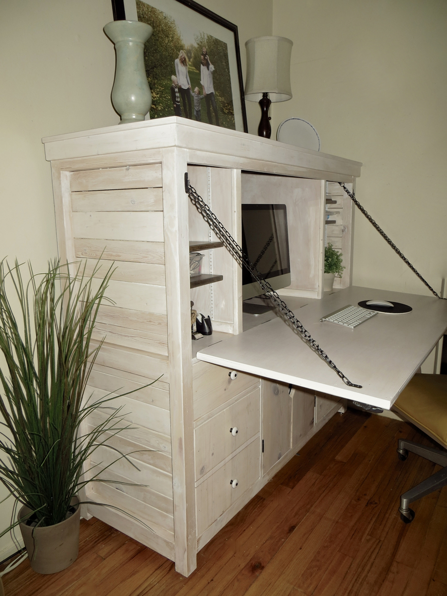 Drop Down Hutch Desk Ana White