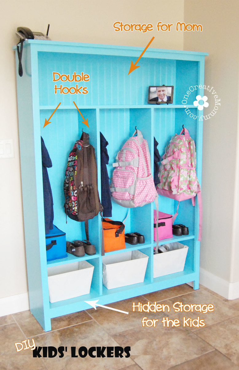 Ana white diy storage lockers no mudroom no problem for Decorative lockers for kids rooms