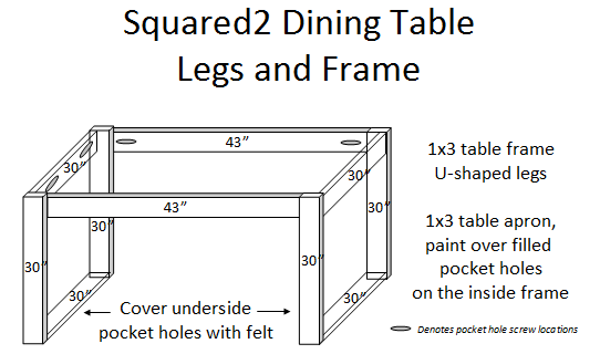 Ana white squared2 dining table diy projects for Do it yourself dining room table plans