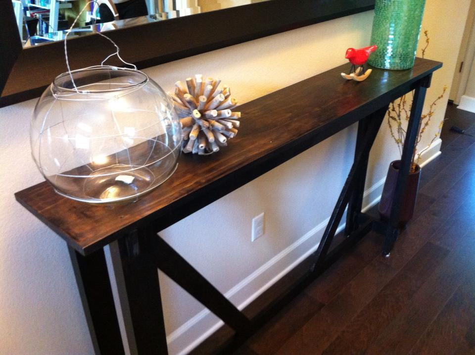 Ana White Rustic Bench Turned Into An Entry Table Diy