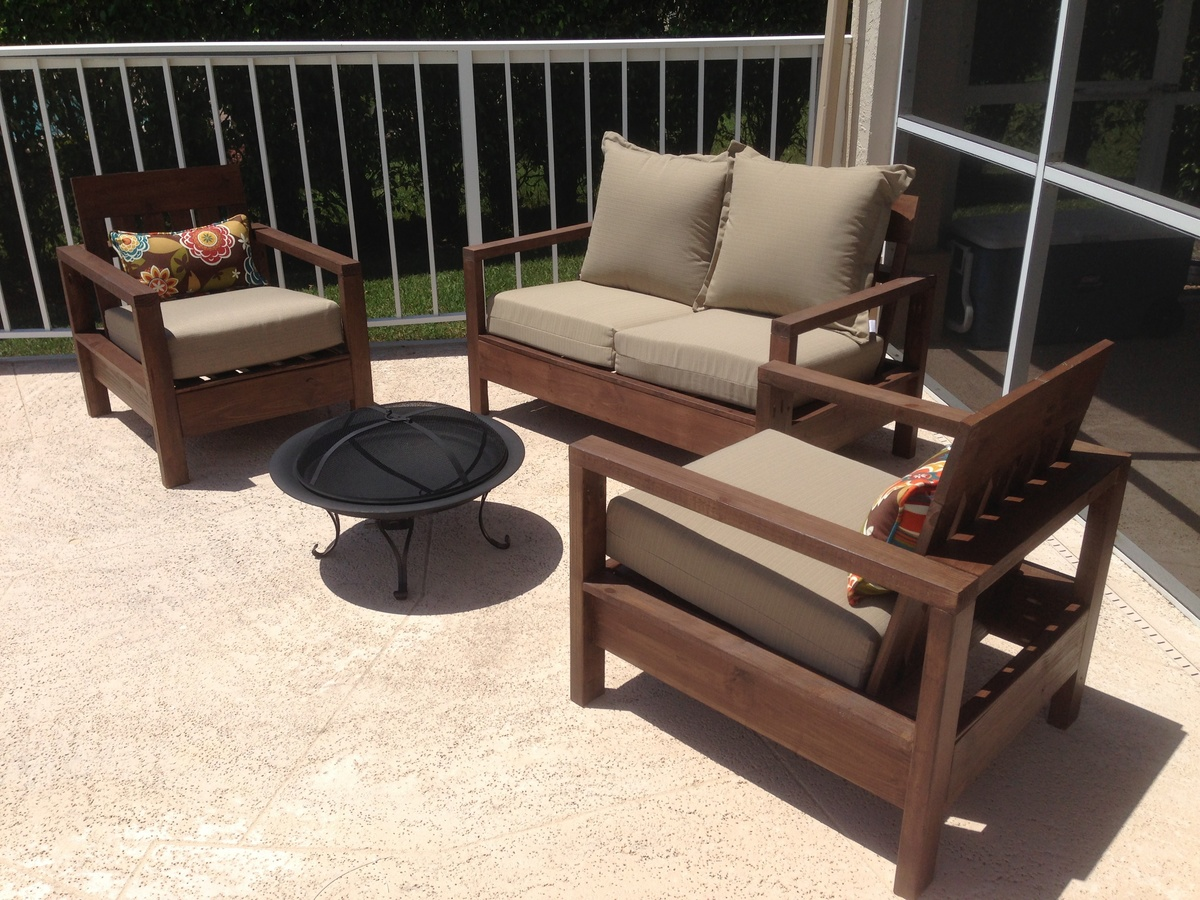 modern outdoor chair frame diy plans