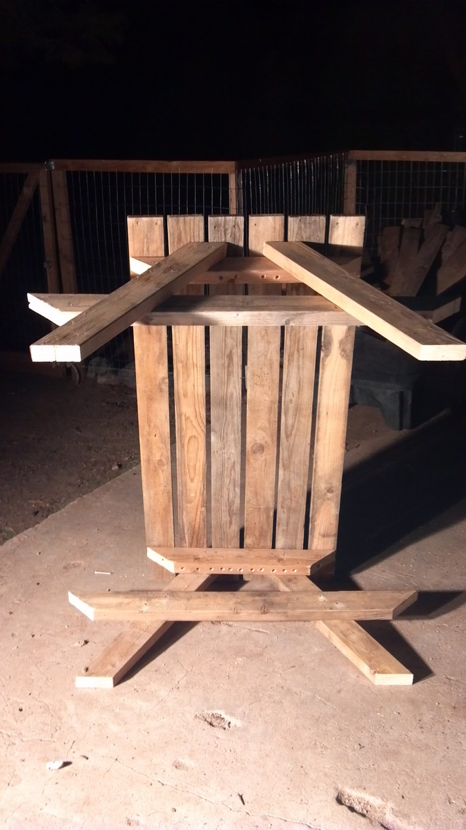 How To Build A Kid Size Picnic Table Out Of Old Recycled Pallets