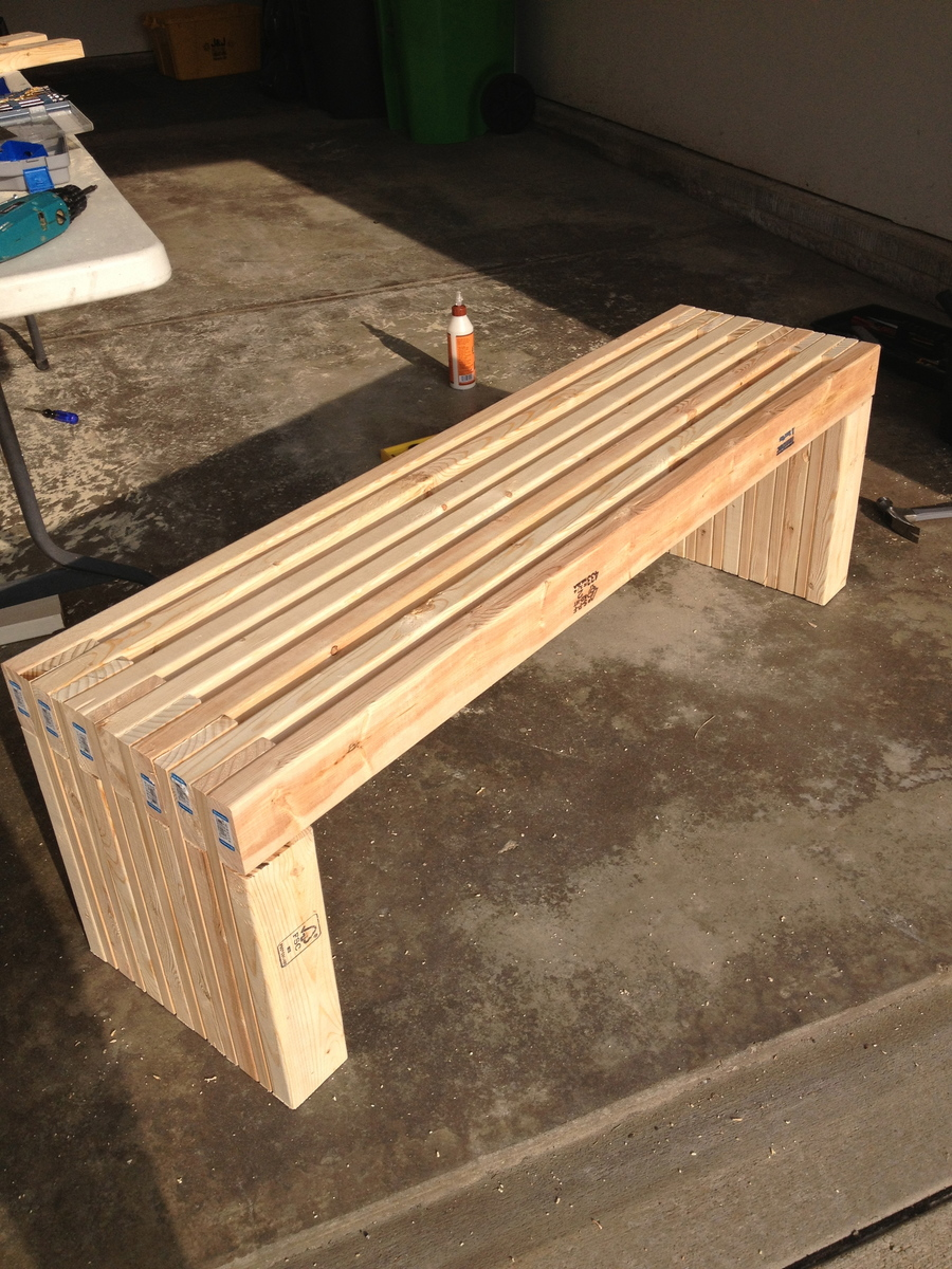 Simple Wood Bench Design Plans Quick Woodworking Projects