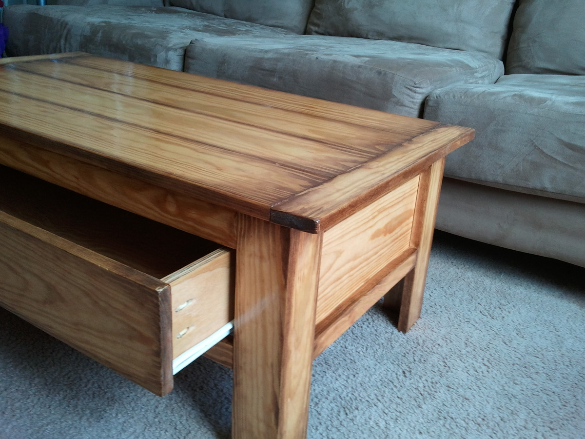 Ana White Coffee Table With A Massive Drawer Diy Projects