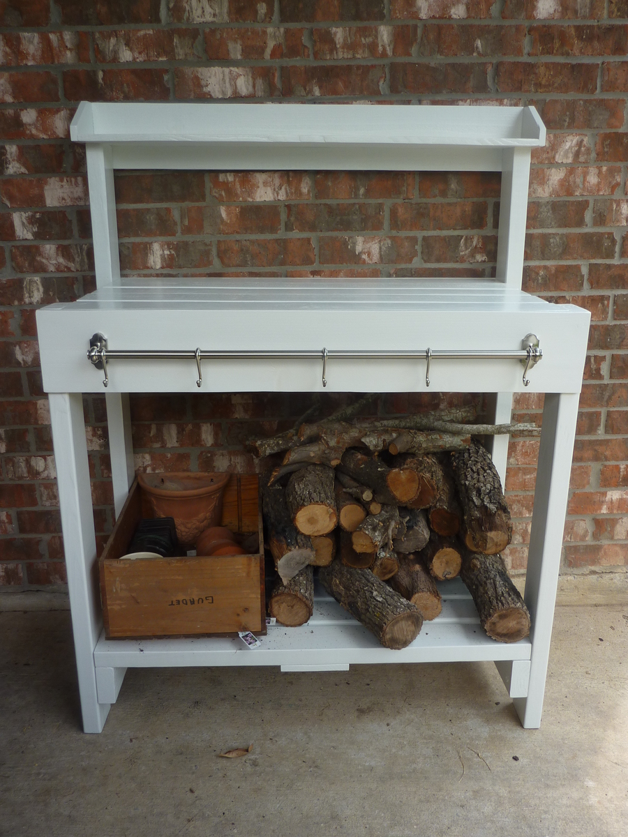 Ana White Simple White Potting Bench Diy Projects