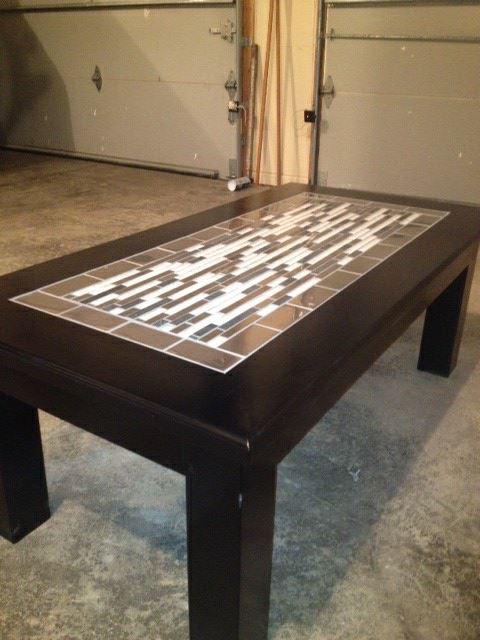 Ana White Tile Finished Tryde Coffee Table Variation