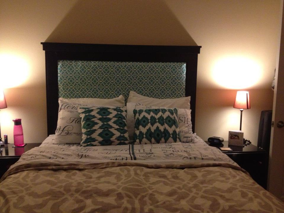 Ana white center upholstered chestwick inspired for Do it yourself headboard