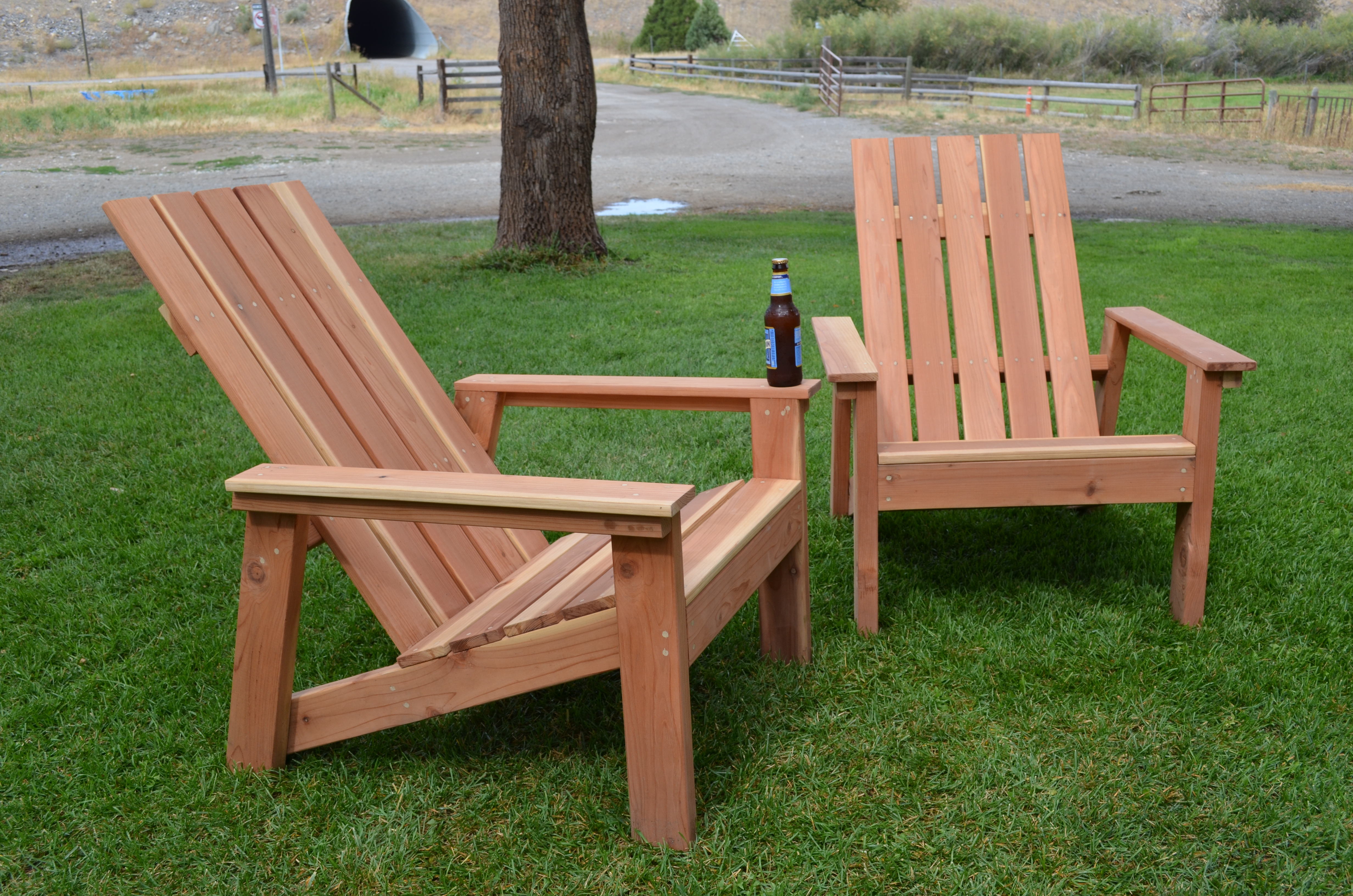 First Build Redwood Adirondack Chairs Ana White