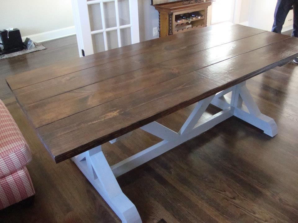 Ana White Our 67 5 Square Trestle Table And Matching