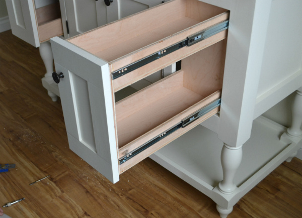 pull out bathroom vanity drawer
